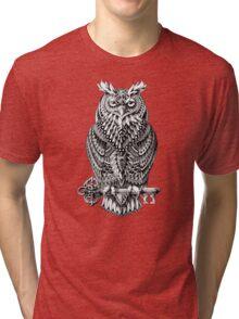 Great Horned Owl Tri-blend T-Shirt