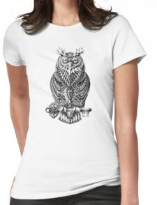 Great Horned Owl Womens Fitted T-Shirt
