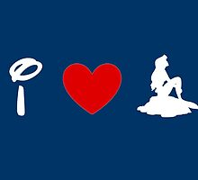 I Heart Little Mermaid (Classic Logo) (Inverted) by ShopGirl91706
