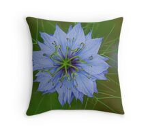 Blue - Love in the Mist Throw Pillow