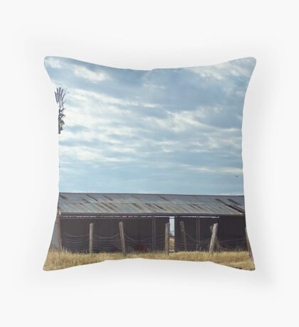 Southern Cross and Shearing Shed Throw Pillow
