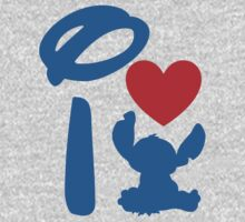 I Heart Stitch (Inverted) Kids Clothes