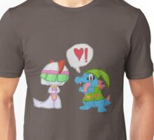 Totodile and Ralts - Link and Zelda Unisex T-Shirt