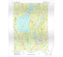 Maine USGS Historical Map Wayne 103084 1966 24000 Poster