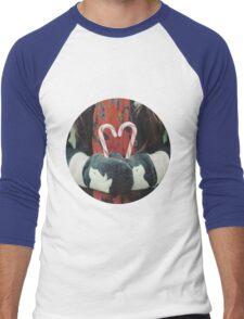 Candy cane love Men's Baseball ¾ T-Shirt