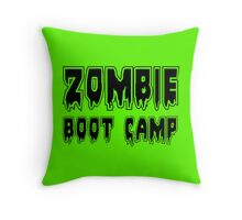 ZOMBIE BOOT CAMP by Zombie Ghetto Throw Pillow