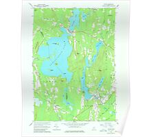 Maine USGS Historical Map Wayne 807280 1966 24000 Poster