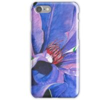 Big Blue Clematis iPhone Case/Skin