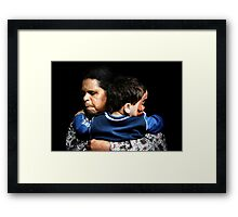 Aunty Joyce and Casey Framed Print