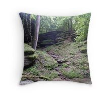 wooded fantasy Throw Pillow