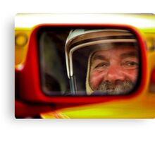 Rally Driver Reflection Canvas Print