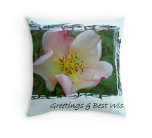 The Greeting Rose Throw Pillow
