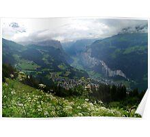 Looking Down on Lauterbrunnen Poster