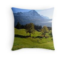 Grindelwald Valley Throw Pillow