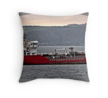 The Bunkering Vessel Throw Pillow