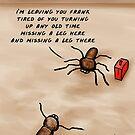 A Huntsman spider cartoon  by David Stuart