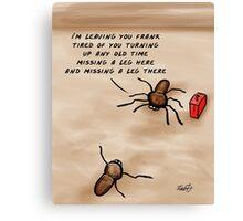 A Huntsman spider cartoon  Canvas Print