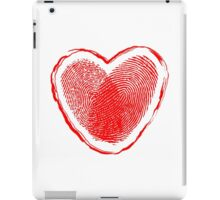 Hearth fingerprint iPad Case/Skin