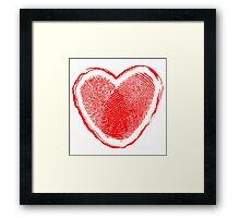Hearth fingerprint Framed Print