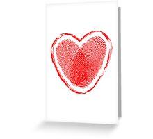 Hearth fingerprint Greeting Card