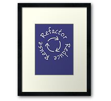 Reduce, Reuse, Refactor Framed Print