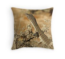 "Juvenile Sand Monitor ""Varanus gouldii"" - Mungo NP, NSW Throw Pillow"