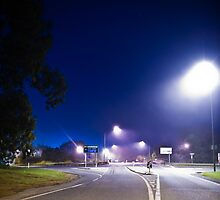 M1 Foggy Overpass by Mark Greenmantle