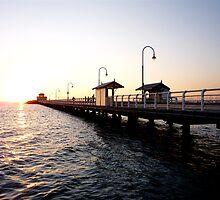 St Kilda Pier @ Sunset 2 by Scott Chalmers