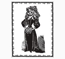 Skeleton Bride (Border) Kids Tee