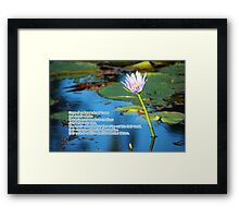 Some of us have learned... Framed Print