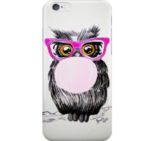 Happy chewing gum owl iPhone Case/Skin