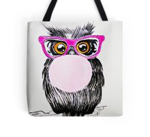Happy chewing gum owl Tote Bag