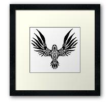 Tribal Raven Framed Print