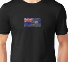 Flag of Turks and Caicos on Rough Wood Boards Effect Unisex T-Shirt