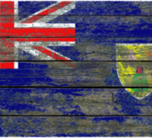 Flag of Turks and Caicos on Rough Wood Boards Effect Sticker