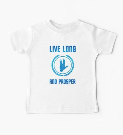 Live Long and Prosper - Spock's hand - Leonard Nimoy Geek Tribut Baby Tee