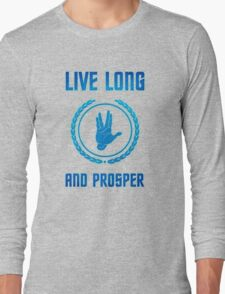 Live Long and Prosper - Spock's hand - Leonard Nimoy Geek Tribut Long Sleeve T-Shirt