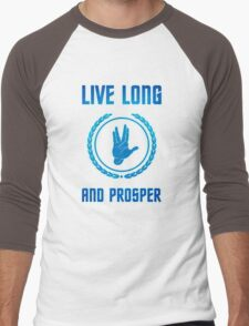 Live Long and Prosper - Spock's hand - Leonard Nimoy Geek Tribut Men's Baseball ¾ T-Shirt