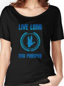 Live Long and Prosper - Spock's hand - Leonard Nimoy Geek Tribut Women's Relaxed Fit T-Shirt