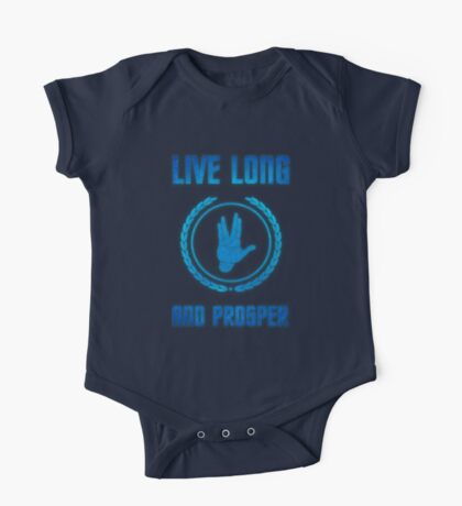 Live Long and Prosper - Spock's hand - Leonard Nimoy Geek Tribut One Piece - Short Sleeve