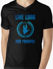 Live Long and Prosper - Spock's hand - Leonard Nimoy Geek Tribut Mens V-Neck T-Shirt