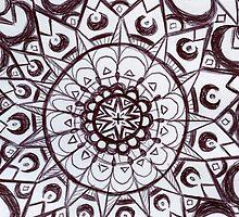 Black & White graphic mandala by shethatisnau