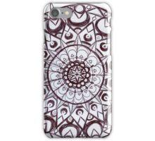 Black & White graphic mandala iPhone Case/Skin