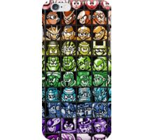 Mega Man Robot Masters Rainbow iPhone Case/Skin
