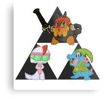 Pokemon Triforce Metal Print