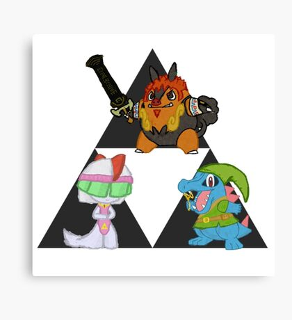 Pokemon Triforce Canvas Print