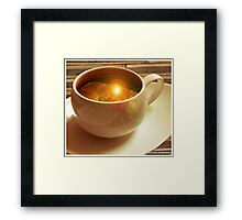 Clouds in my Coffee Framed Print