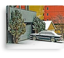 Parked in the Snow Canvas Print