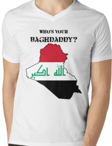 Who's Your Baghdaddy? (Flag) Mens V-Neck T-Shirt
