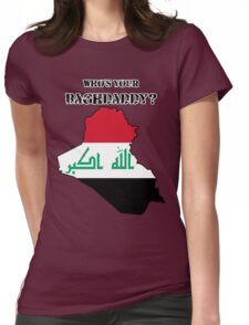 Who's Your Baghdaddy? (Flag) Womens Fitted T-Shirt